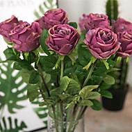 abordables Flores Artificiales-Flores Artificiales 1 Rama Vintage / Estilo europeo Rosas Flor de Mesa