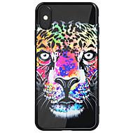 Недорогие Кейсы для iPhone 8 Plus-Кейс для Назначение Apple iPhone X iPhone 8 Plus Зеркальная поверхность С узором Кейс на заднюю панель Животное Твердый Акрил для iPhone