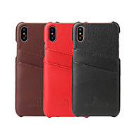 abordables Súperoferta de Precios Locos-Funda Para Apple iPhone X / iPhone 8 / iPhone 8 Plus Soporte de Coche Funda Trasera Un Color Dura piel genuina para iPhone X / iPhone 8 Plus / iPhone 8