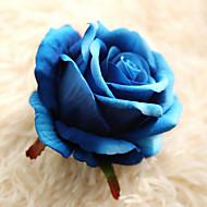abordables Flores Artificiales-1 Rama Poliéster Rosas Flor de Mesa Flores Artificiales