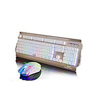 お買い得  マウス、キーボードコンボ-ajazz tomahawkアップグレードボタンマウスキット白ゲームバックライトマウススーツ