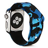 Cinturino per orologio  per Apple Watch Series 4/3/2/1 Apple Cinturino sportivo Silicone Custodia con cinturino a strappo