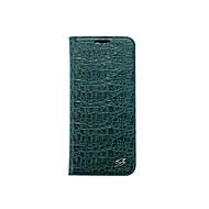 Недорогие Чехлы и кейсы для Galaxy S8 Plus-Кейс для Назначение SSamsung Galaxy S8 Plus S8 Бумажник для карт Кошелек со стендом Чехол Сплошной цвет Твердый Настоящая кожа для S8