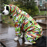 Dog Rain Coat Dog Clothes Waterproof Reactive Print Camouflage Color Costume For Pets