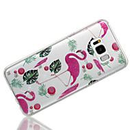 Недорогие Чехлы и кейсы для Galaxy S8 Plus-Кейс для Назначение SSamsung Galaxy S8 Plus / S8 IMD / С узором Кейс на заднюю панель Фламинго / Сияние и блеск Мягкий ТПУ для S8 Plus / S8 / S7 edge