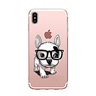 abordables Ofertas de Hoy-Funda Para Apple iPhone X iPhone 8 Transparente Diseños Funda Trasera Perro Suave TPU para iPhone X iPhone 8 Plus iPhone 8 iPhone 7 Plus