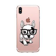 abordables Ofertas de Hoy-Funda Para Apple iPhone X / iPhone 8 Transparente / Diseños Funda Trasera Perro Suave TPU para iPhone X / iPhone 8 Plus / iPhone 8