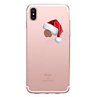 Недорогие Кейсы для iPhone 8-Кейс для Назначение Apple iPhone X iPhone 8 Прозрачный С узором Кейс на заднюю панель Рождество Мягкий ТПУ для iPhone X iPhone 8 Pluss