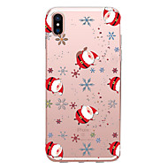 Недорогие Кейсы для iPhone 8-случай для яблока iphone x xs xr xsmax / iphone 8 прозрачный / шаблон back cover рождественский мягкий tpu для iphone xs / iphone xr / iphone xs max