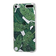 cheap iPod Accessories-Case For Apple Ipod Touch5 / 6 Case Cover High Penetrating Powder IMD Banana Leaves Soft TPU Phone Case