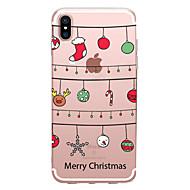 Недорогие Кейсы для iPhone 8-Кейс для Назначение Apple iPhone X / iPhone 8 Прозрачный / С узором Кейс на заднюю панель Рождество Мягкий ТПУ для iPhone X / iPhone 8 Pluss / iPhone 8