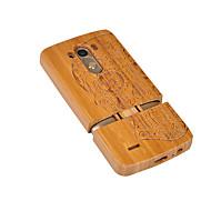 お買い得  携帯電話ケース-ケース 用途 LG G3 LG G3 耐衝撃 バックカバー スカル ハード 丈 のために