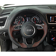 cheap Steering Wheel Covers-Steering Wheel Covers Genuine Leather 38cm For Audi A4L / Q5 / Q7 All years