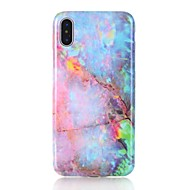 Case For Apple iPhone X iPhone 8 IMD Pattern Marble Hard for