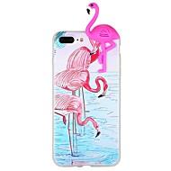 Недорогие Кейсы для iPhone 8-Кейс для Назначение Apple iPhone 6 iPhone 7 С узором Своими руками Кейс на заднюю панель Фламинго 3D в мультяшном стиле Животное Мягкий