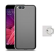 お買い得  携帯電話ケース-ケース 用途 Xiaomi Mi 6 Plus Mi 6 スタンド付き バックカバー 純色 ソフト TPU のために Mi 6 Plus Xiaomi Mi 6
