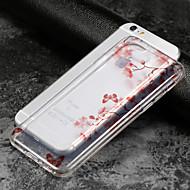 Недорогие Кейсы для iPhone 8-Кейс для Назначение Apple iPhone X iPhone 8 iPhone 6 iPhone 6 Plus IMD Ультратонкий Прозрачный С узором Кейс на заднюю панель Цветы Мягкий
