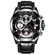 ieftine Bijuterii&Ceasuri-CADISEN Bărbați Quartz Ceas de Mână Chineză Calendar Rezistent la Apă Iluminat Cronometru Piele Autentică Bandă Modă Cool Negru