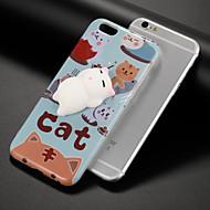 halpa Uudet tuotteet-Etui Käyttötarkoitus Apple iPhone 7 Plus iPhone 7 Kuvio squishy DIY Takakuori Kissa Piirretty Pehmeä TPU varten iPhone 7 Plus iPhone 7