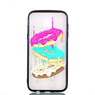 Недорогие Чехлы и кейсы для Galaxy J3(2017)-Кейс для Назначение SSamsung Galaxy J7 (2017) J5 (2017) Прозрачный С узором Рельефный Кейс на заднюю панель Продукты питания Твердый ПК