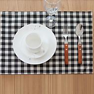 abordables Salvamanteles-Ordinario Algodón / Poliéster Cuadrado Juego de Mesa Decoraciones de mesa