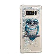 Недорогие Чехлы и кейсы для Galaxy Note-Кейс для Назначение SSamsung Galaxy Note 8 Движущаяся жидкость / С узором Кейс на заднюю панель Сова / Сияние и блеск Мягкий ТПУ для Note 8