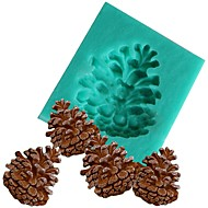 お買い得  キッチン用小物-デコレーションパインナッツコーンシリコンファンドンモールドシリカゲルチョコレートキャンディー金型