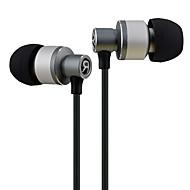 お買い得  -LIZU D22 耳の中 ケーブル ヘッドホン 動的 銅 携帯電話 イヤホン マイク付き ヘッドセット
