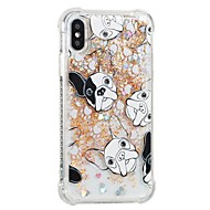 Недорогие Кейсы для iPhone 8-Кейс для Назначение Apple iPhone X iPhone 8 Защита от удара Движущаяся жидкость С узором Кейс на заднюю панель С собакой Мягкий ТПУ для