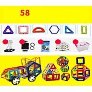 abordables Modelos y construcción de juguete-Bloques magnéticos Juguete Vehículo de construcción Avión Juguetes Redondo Cuadrado Guerrero Coche Arquitectura Vehículos Transformable