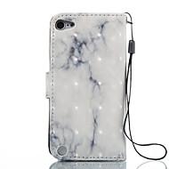preiswerte iPod-Hüllen / Cover-Hülle Für iTouch 5/6 Geldbeutel Kreditkartenfächer mit Halterung Muster Automatisches Schlafen/Aufwachen Ganzkörper-Gehäuse Hart