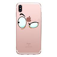 מגן עבור Apple iPhone X / iPhone 8 שקוף / תבנית כיסוי אחורי אנימציה רך TPU ל iPhone X / iPhone 8 Plus / iPhone 8