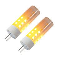 abordables Bulbos de decoración-BRELONG® 2pcs 3W 230lm G4 Bombillas LED de Mazorca 36 Cuentas LED SMD 2835 Efecto llama Blanco Cálido 12V