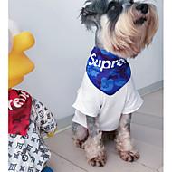 강아지 강아지 스카프 강아지 의류 캐쥬얼/데일리 기하학 패턴 화이트 블랙 레드 블루 줄무늬 코스츔 애완 동물
