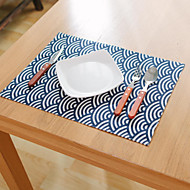 abordables Salvamanteles-Ordinario Mezcla de Lino y Algodón Cuadrado Juego de Mesa Decoraciones de mesa