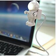 abordables Eclairages LED de nuit-YWXLIGHT® 1pc Astronaute Lumières USB Mini Nouveauté créative Lampe LED