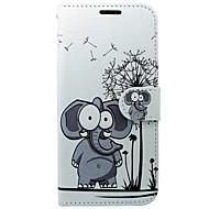 olcso Mobiltelefon tokok-Case Kompatibilitás Huawei P10 Kártyatartó Pénztárca Állvánnyal Flip Elefánt Kemény mert Huawei