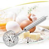 お買い得  キッチン用小物-ステンレススチール蜂蜜スプーン泡ジッパースウィズルスプーンスティック卵ビーター混合泡ツール