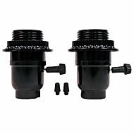 halpa Lamppukannat-OYLYW 2kpl E27 E26 Light Socket Muovi Lampun lisävaruste