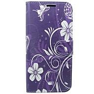 Недорогие Чехлы и кейсы для Galaxy S8-Кейс для Назначение SSamsung Galaxy S8 / S7 Кошелек / Бумажник для карт / со стендом Цветы Твердый для