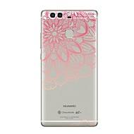 voordelige Telefoon hoesjes-hoesje Voor Huawei P9 P10 Transparant Patroon Achterkantje Lace Printing Zacht TPU voor P10 Plus P10 Lite P10 P9 P9 Lite P9 lite mini P9