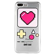 Недорогие Кейсы для iPhone 8 Plus-Кейс для Назначение Apple iPhone 6 iPhone 7 Полупрозрачный С узором Рельефный Кейс на заднюю панель С сердцем Геометрический рисунок