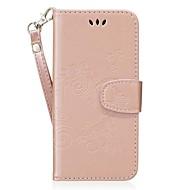 Недорогие Чехлы и кейсы для Galaxy S7-Кейс для Назначение Samsung S8 Plus S8 Бумажник для карт со стендом Флип С узором Рельефный Чехол С сердцем Твердый Кожа PU для S8 Plus