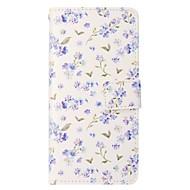 Недорогие Чехлы и кейсы для Galaxy S7 Edge-Кейс для Назначение SSamsung Galaxy S8 Plus S8 Кошелек Бумажник для карт со стендом Флип Магнитный Чехол Цветы Твердый Искусственная кожа