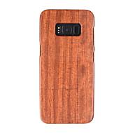 Недорогие Чехлы и кейсы для Galaxy S8 Plus-Кейс для Назначение SSamsung Galaxy Защита от удара Имитация дерева Твердый для