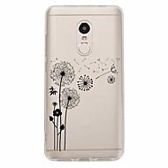 olcso Mobiltelefon tokok-Case Kompatibilitás Xiaomi Redmi Note 4X Redmi Note 4 Minta Fekete tok Pitypang Puha TPU mert Xiaomi Redmi Note 4X Xiaomi Redmi Note 4