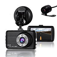 Недорогие Видеорегистраторы для авто-T660 848 x 480 / 1280 x 720 / 1440 x 1080 Автомобильный видеорегистратор 170° Широкий угол 3 дюймовый LCD Капюшон с G-Sensor / Запись