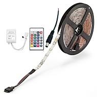 preiswerte -ZDM® 300 LEDs 5M LED-Streifenleuchte 1 24Keys Fernbedienung 1 Wechselstromkabel RGB Schneidbar Selbstklebend Dekorativ DC 12V