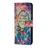 Недорогие Чехлы и кейсы для Galaxy S9 Plus-Кейс для Назначение SSamsung Galaxy S9 S9 Plus Бумажник для карт Кошелек со стендом Флип Магнитный Чехол Ловец снов Твердый Кожа PU для
