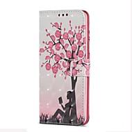 Недорогие Чехлы и кейсы для Galaxy S7 Edge-Кейс для Назначение SSamsung Galaxy S9 S9 Plus Бумажник для карт Кошелек со стендом Флип Магнитный Чехол дерево Твердый Кожа PU для S9